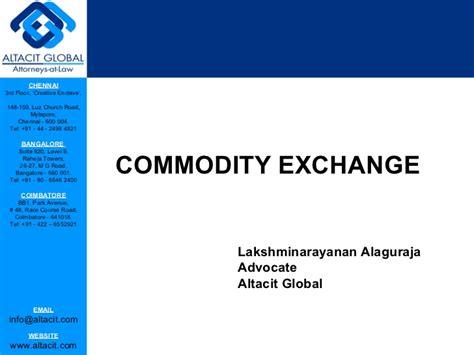 commodity exchange market commodity exchange