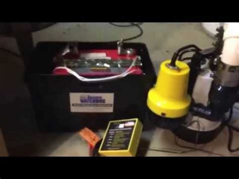installing a basement watchdog battery backup sump