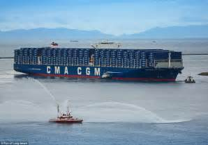 biggest private ships in the world biggest container ship ever to dock in america benjamin