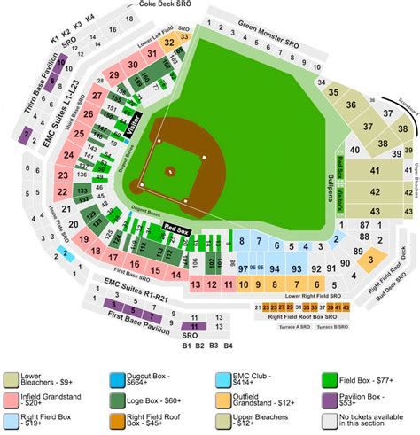 fenway seat chart fenway park sox concerts more events boston
