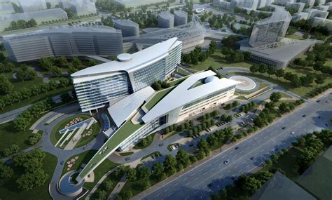 3d Architectural Floor Plans Huashan Hospital Architect Magazine Gresham Smith And