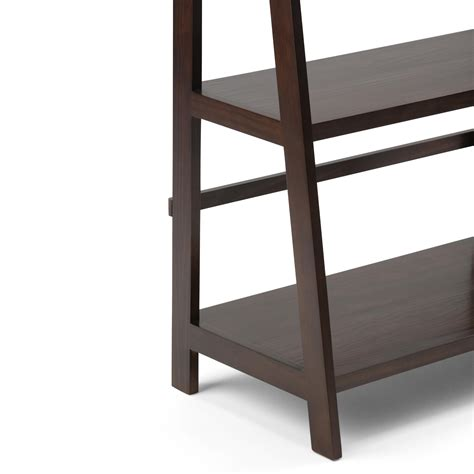 Amazon Com Simpli Home Acadian Solid Wood Ladder Shelf