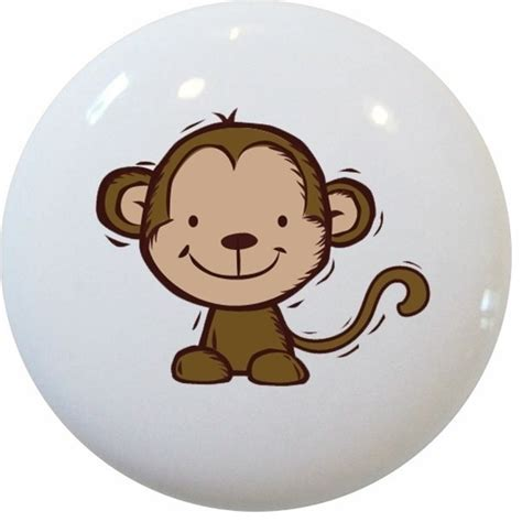 Monkey Drawer Pulls by Kid S Monkey Ceramic Knob Traditional Cabinet And