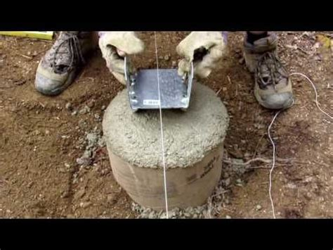 adding bracket  concrete footer finishing sonotube   bracket  deck youtube