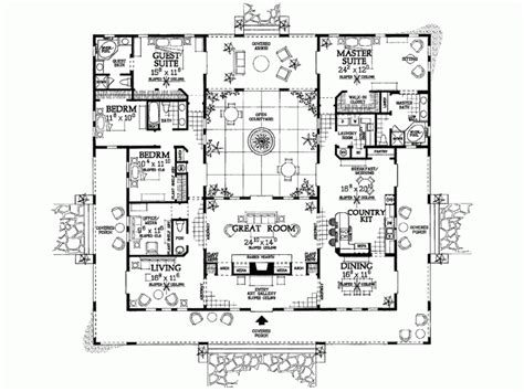 hacienda style homes floor plans floor plan for a hacienda style house house plans