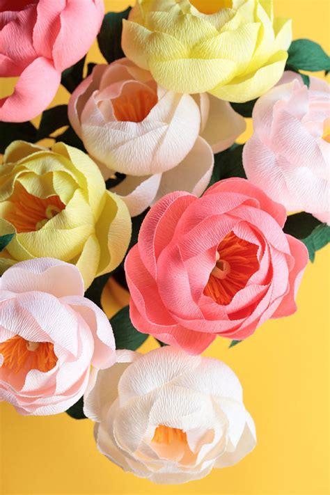 Paper Flower At Home - s day diy paper peonies popsugar australia smart