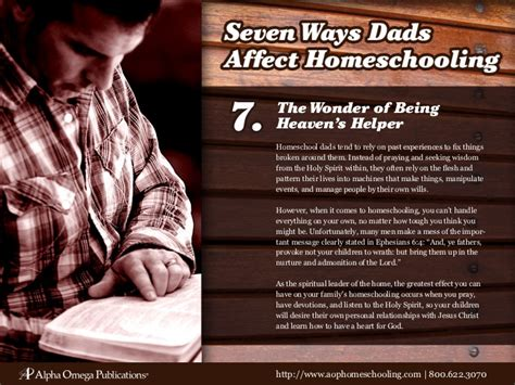 7 Ways In Which Affects Your by 7 Ways Dads Affect Homeschooling