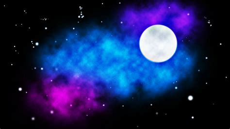 colorful moon wallpaper stars moon colors sky background wallpaper 3840x2160