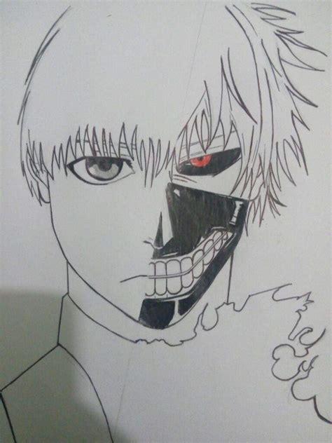 imagenes para dibujar tokyo ghoul dibujo de kaneki tokyo ghoul proceso anime amino