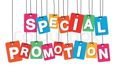 Special Giveaway - vector colorful hanging cardboard tags special promotion on white background