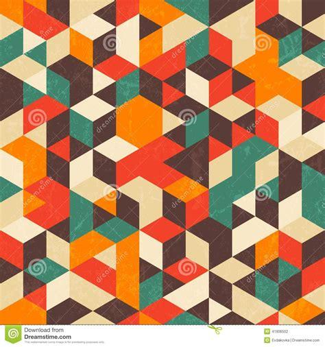 vintage geometric pattern retro geometric pattern with grunge texture stock vector