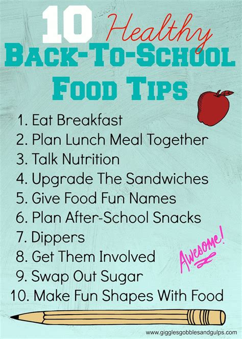 healthy back to school tips from a registered dietitian giggles gobbles and gulps