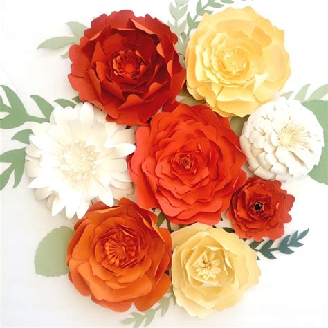 large paper flower wall decor backdrops