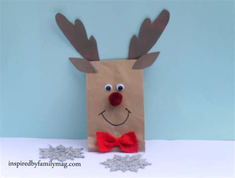 Reindeer Paper Bag Craft - paper bag crafts inspired by family