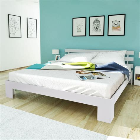 Bed Bigland 200 X 200 vidaxl bed 180 x 200 cm solid pinewood white vidaxl co uk