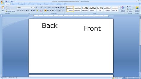 word document template card how to print your own s day cards burris