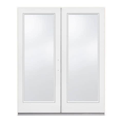 Jeld Wen 60 In X 80 In Primed White Left Hand Inswing Patio Doors Home Depot