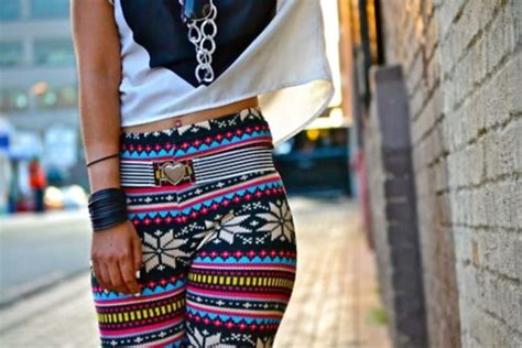 tribal pattern leggings outfit pants leggings abtract print winter outfits aztec