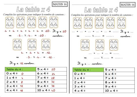 table de multiplication exercice cm1 exercice table de multiplication 192 imprimer nora aceval