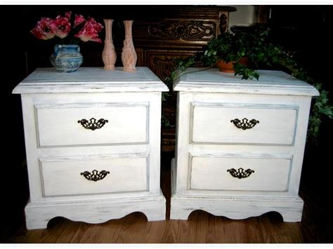 Shabby Chic Bedroom End Tables White Shabby Chic Coffee Side Table Set Bedside Bedroom