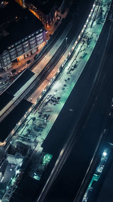 love papers nh cityview street train blue dark night