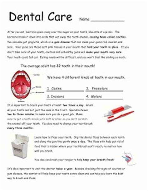 Dental Health Worksheets by Dental Care Worksheet School Work