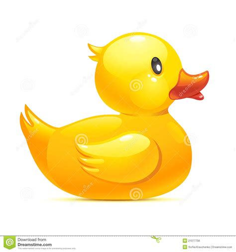 Rubber duck stock vector illustration of bath clean 21077756