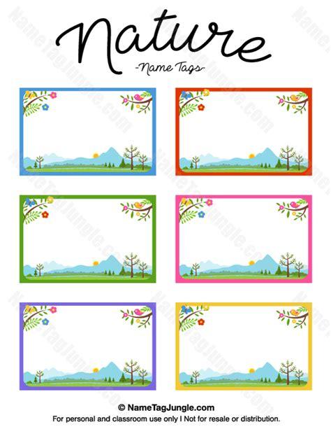 printable insect name tags printable nature name tags