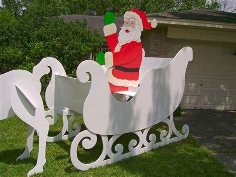 santa and sleigh yard art santa sleigh this yard decoration was made to order by de yard