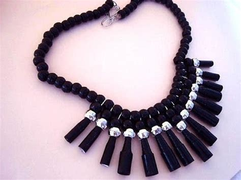how to make jewelry necklace diy black paper bead necklace how to diy jewelry