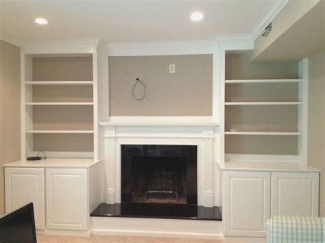 1000 ideas about shelves around fireplace on