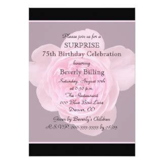 Sle Invitation Card For 75th Birthday 75th Birthday Invitations Announcements Zazzle