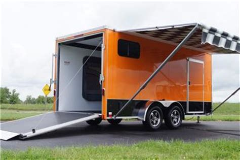 Motorcycle Sleeper Trailer by In Stock 7 X 16 V Nose Enclosed Motorcycle Cargo Trailer Popout Sleeper Cabinets Ebay