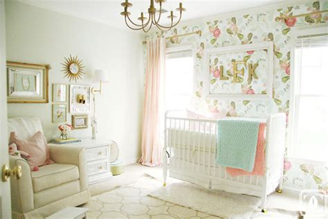 girly nursery wallpaper baby girl nursery inspiration
