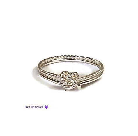 knot ring infinity knot promise ring