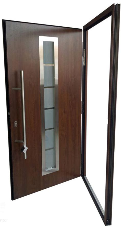 Quot Madrid Quot Stainless Steel Exterior Door With Sidelights Stainless Steel Exterior Door