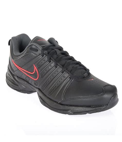nike black synthetic leather sport shoes price in india
