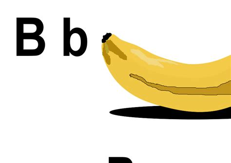 B For clipart b for banana clipart best clipart best