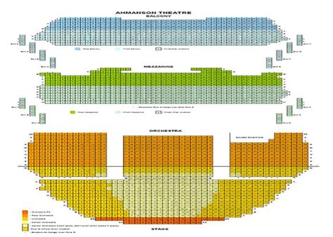 theatre seating chart ahmanson theater seating chart barry s tickets