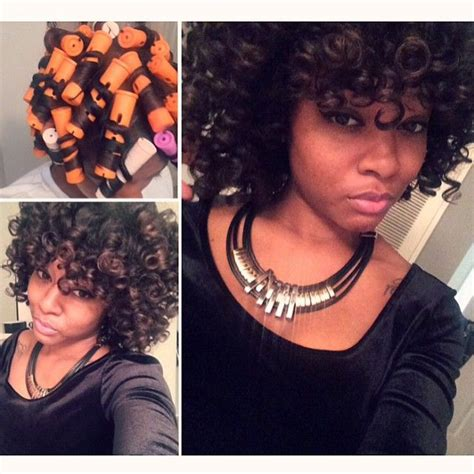 twist and rods on black people perm rod quot twist wrap quot insta dayelasoul my hair my
