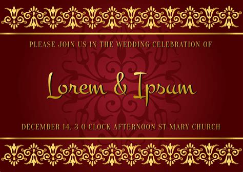 a dark wedding font indian style wedding card download free vector art
