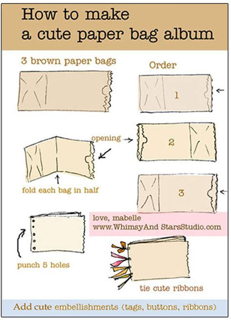 Make Paper Bag - how to make a mini album for out of paper bags