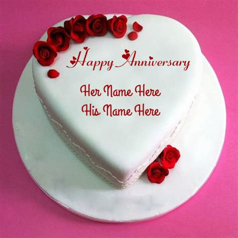 Wedding Anniversary Wishes Name On Cake by Write Name On Happy Anniversary Greeting Card Pics