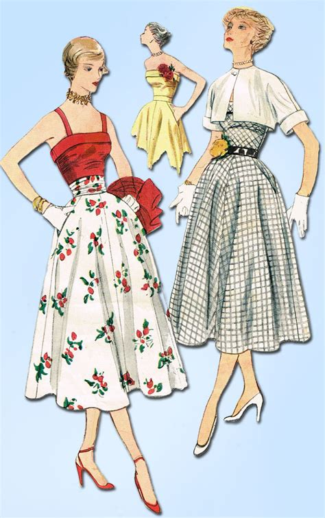 vintage patterns 1950s a 1849940940 1950s vintage simplicity sewing pattern 3265 uncut misses sun