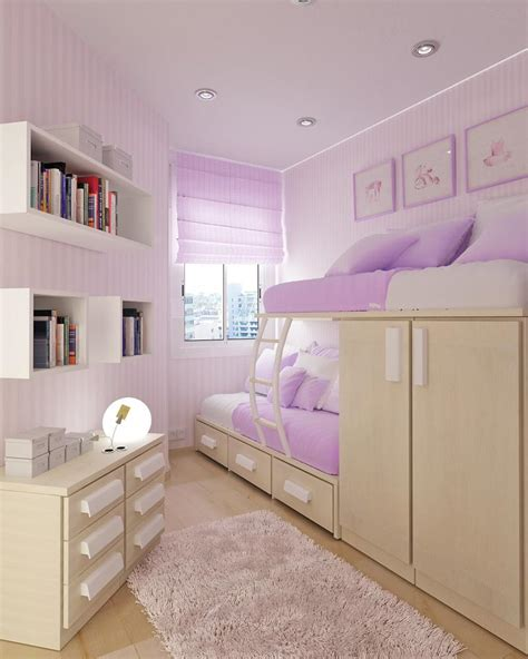 ideal bedroom bedroom endearing purple theme using walnut frame bunk