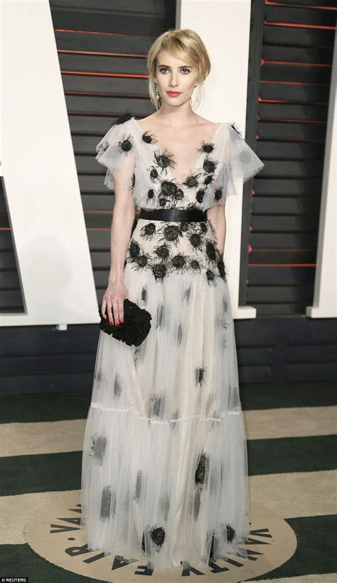 Alba Wears White by Alba Wears Plunging White Gown To Vanity Fair