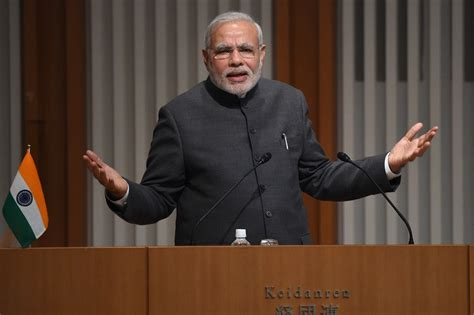 indian prime minister narendra modi delivers remarks to india and japan pursue closer ties to counter china wsj