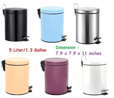 Modern Bathroom Trash Can by Modern Toilet Trash Can Step W Lid Cabinet Bathroom