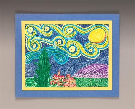 Draw a Twist on Starry Night Craft   crayola.com