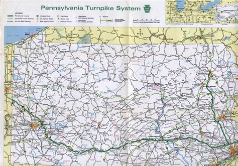 map of pennsylvania 1970 s pennsylvania state road maps